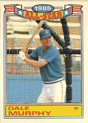 1986 Topps Glossy All-Stars Gray Stock Baseball Cards     018      Dale Murphy